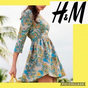 H&M Paisley Printed Dress